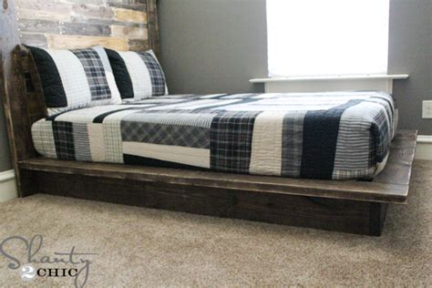 diy platform bed plans easy diy platform bed shanty 2 chic
