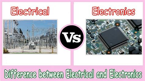 electrical  electronics difference  electrical