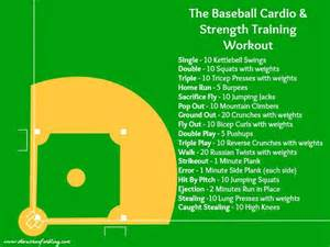 the baseball cardio strength workout