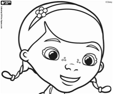 Doc Mcstuffins Face Coloring Pages | how to draw doc mcstuffins