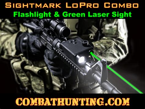green laser light combo for ar 15 sm25004 sightmark lopro combo green laser and 220 lumen