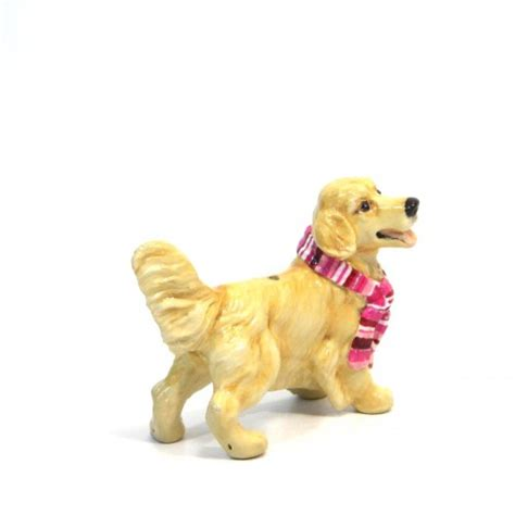 golden retriever products gifts golden retriever lover ceramic figurine ornament gifts madamepomm on