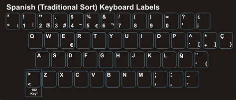 spanish keyboard layout spanish laptop keyboard stickers