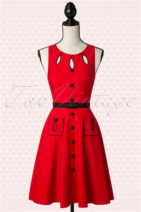 red swing dress vintage 40s jasmin red swing dress