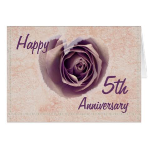 Wedding Anniversary 5th by 5th Wedding Anniversary Greeting Cards Zazzle