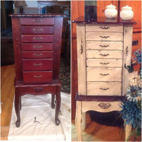 chalk paint jewelry armoire i used chalk paint distressing antique glaze and wax to