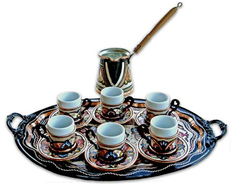 Cheap Home Decor Catalogs by Set 6 Cups Oval Tray From Turkish Coffee World In