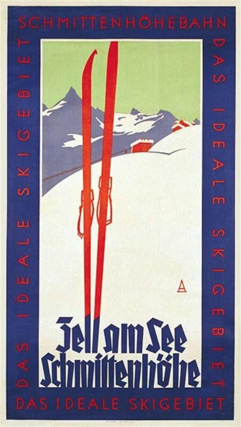 sko c 1 30 63 zell am see ski vintage poster 1930 1930 s rec parks