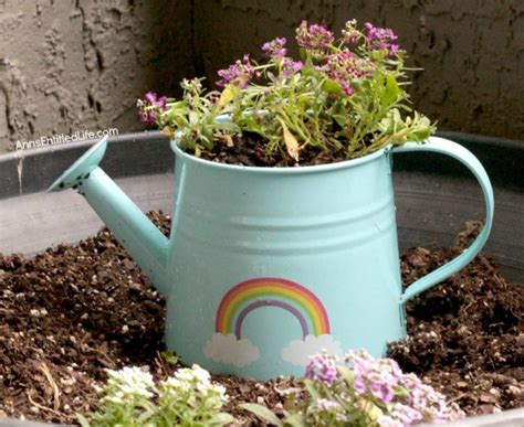 How To Make A Watering Can Planter Watering Can Planter