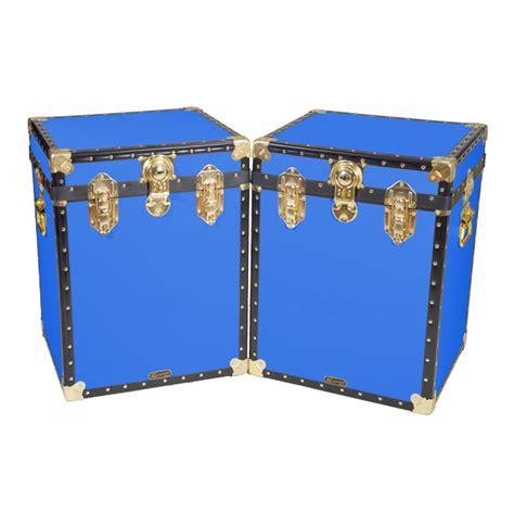 trunks for storage in bedroom 18 quot bedside trunk royal blue mossman trunks
