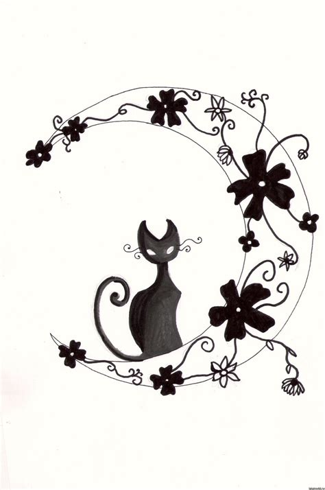 tribal moon tattoo meaning tribal cat designs pin cat tattoos moon