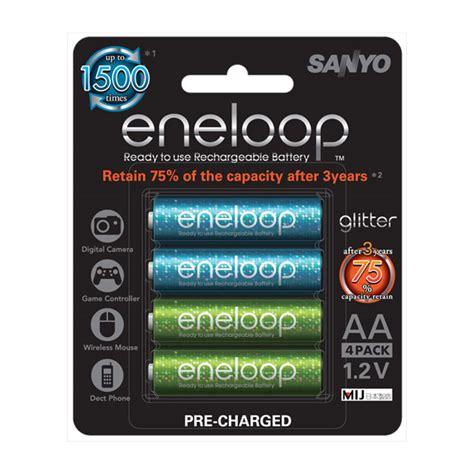 Sanyo Eneloop Gliter Battery Aa 8pcs sanyo eneloop 激閃版 aa 充電池 4 粒裝 dcfever