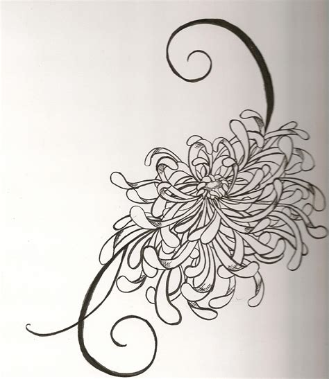 chrysanthemum tattoo design japanese chrysanthemum by vivalldi on deviantart