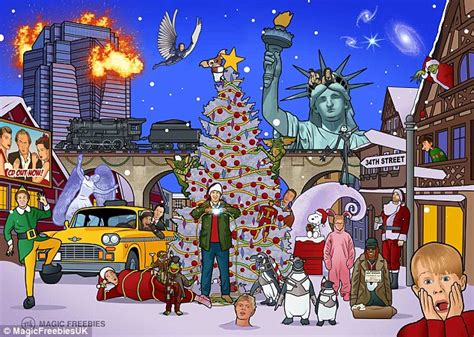 daily film quiz can you spot all 25 christmas movies in this scene