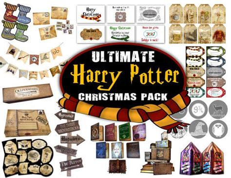 printable harry potter ornaments wizard christmas pack christmas tree decorations