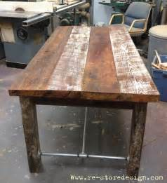 white reclaimed wood farm table diy projects