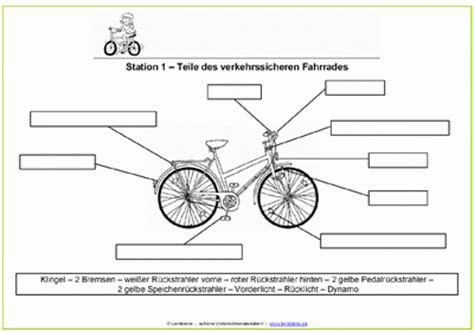 Beschriftung Verkehrssicheres Fahrrad by Die Verkehrssichere Fahrradwerkstatt Lernbiene Verlag