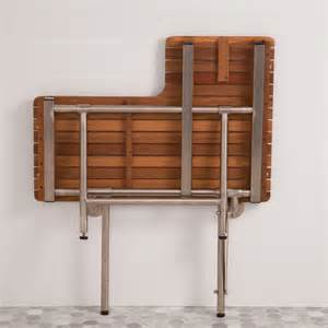 bench drop 30 quot teak left hand ada shower seat with drop down legs