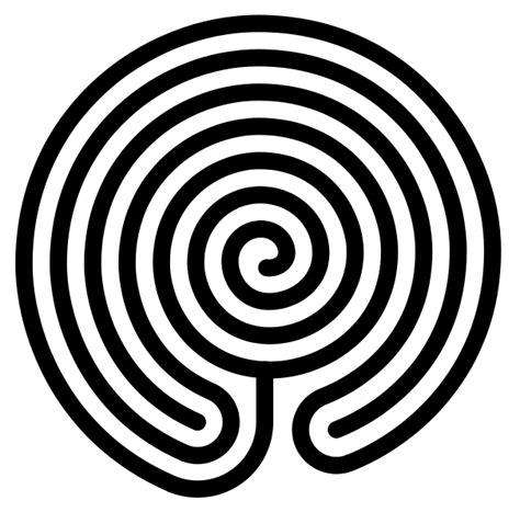 Labyrinth Outline by File Chakravyuha Labyrinth Svg