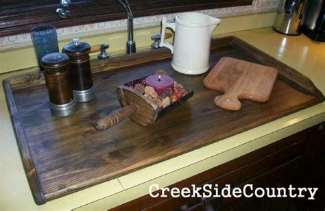 Sink Covers For Kitchens by Primitive Bread Board Lg Kitchen Sink Cover Stained Ebay
