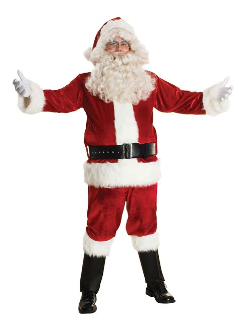 sunnywood men s deluxe santa claus suit set costume x