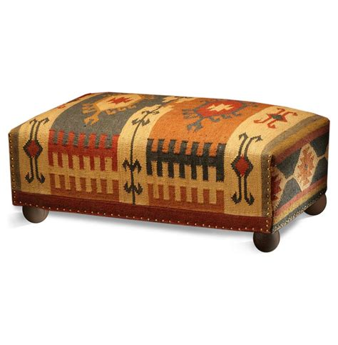 kilim benches and ottomans southwestern cabin rustic lodge mtn ray long kilim