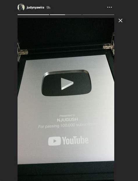 nyashinski njugush awarded youtube silver play button