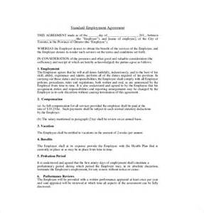 11 employment agreement templates free sample example