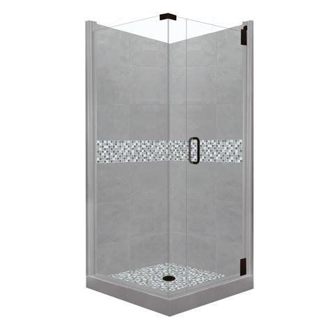 american bath factory shower kit american bath factory mar grand hinged 38 in x 38 in x 80 in right corner shower kit