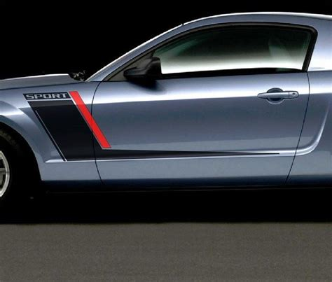 mustang stripes and decals ford mustang roush style side stripes graphics decals duo