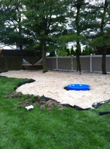 Sand In Backyard by 15 Tons Of White Sand For Back Yard Retreat