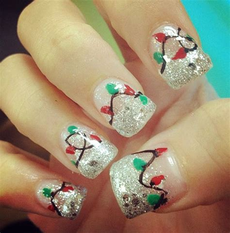 15 christmas lights nail art designs ideas stickers