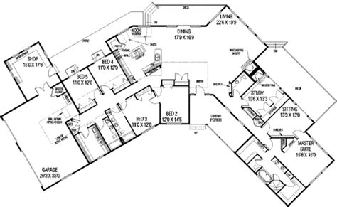 style floor plans ranch style house plan 5 beds 3 5 baths 3821 sq ft plan 60 480