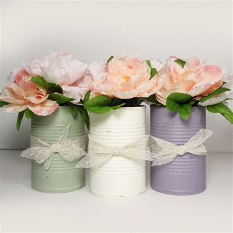 Tin Vases Wedding by 17 Best Ideas About Painted Tin Cans On Paint Cans Tin Can Crafts And Recycled Tin Cans