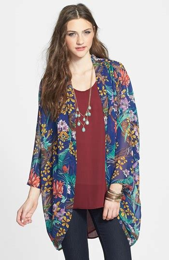 Womens Stylish Black Floral Chiffon Vest delicious floral chiffon kimono jacket royal blue large where to buy how to wear