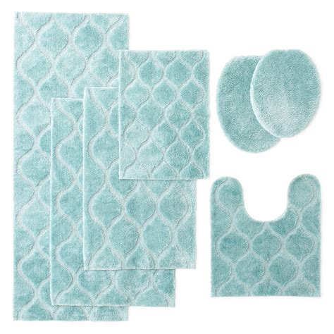 Light Blue Bathroom Rugs Superior 2 Cotton Non Skid Bath Blue Bathroom Rugs