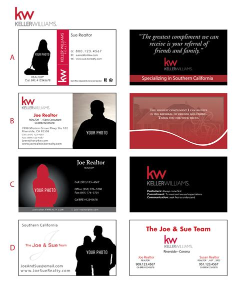 template for the back of the card keller williams keller williams business card templates choice image