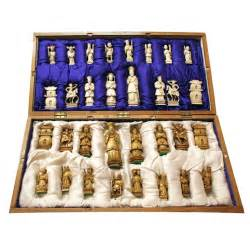 Contemporary Oriental Rugs Hand Carved Ivory Chess Set At 1stdibs