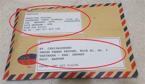Contoh Lop Surat Lamaran Dan Alamat by Format Lop Pengiriman Spt Contoh Menulis Alamat Surat
