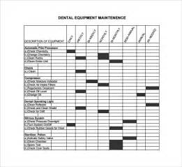Equipment Log Book Template by Sle Maintenance Log Template 9 Free Documents In Pdf