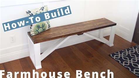 build farmhouse bench diy project woodworking