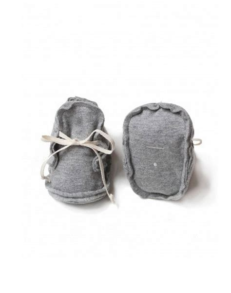 grey label gray label edged baby booties noble carriage