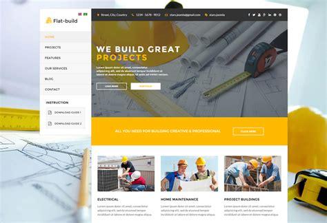 flatbuild premium responsive construction joomla template