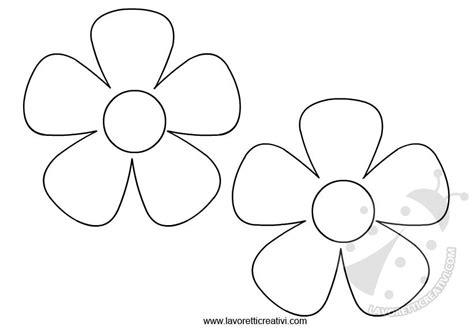 disegni semplici di fiori sagome fiori da ritagliare lavoretti creativi
