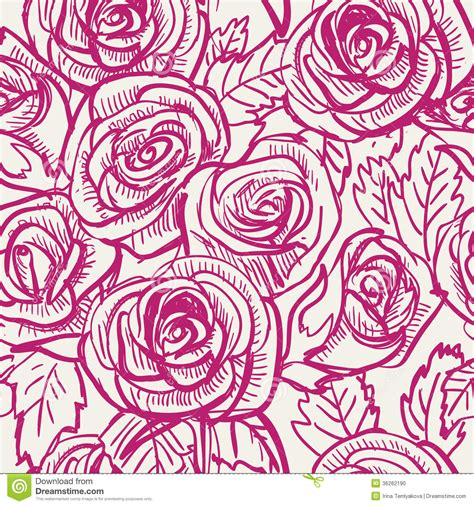 rose pattern clipart seamless vintage inspired rose pattern vector stock