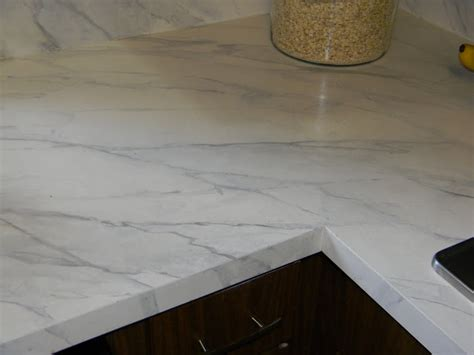Marble Look Countertop by Gorgeous Shiny Things How To Happy Hour Faux Carrara