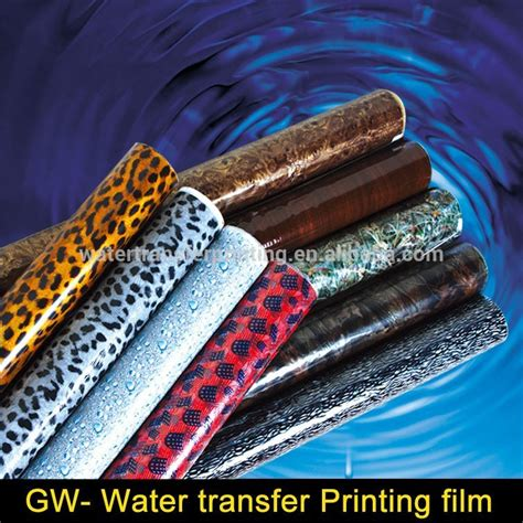 Water Transfer Printing Indonesia D005ab wholesale clear silver carbon fiber water transfer printing transparent with different