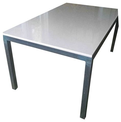 Quartz Dining Table Room Board Parsons Quartz Table 60 X36 Contemporary Dining Tables By Chairish
