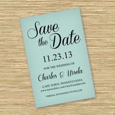 save the date template with script typography download