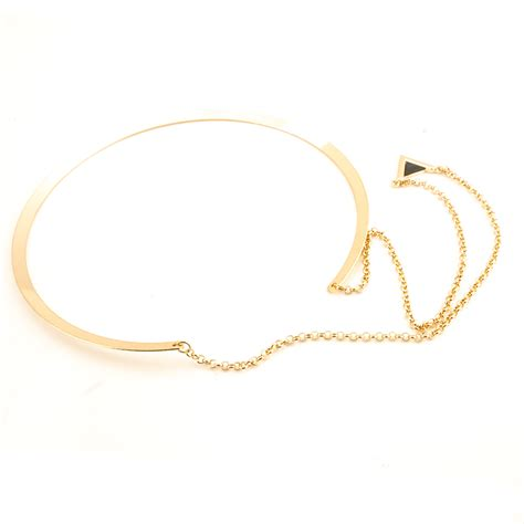 Metal Triangle Necklace fashion triangle shaped golden metal necklace necklace